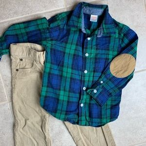 Gymboree | Plaid Top & Corduroy Pants Outfit 4T